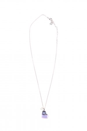 Swarovski Silberkette silberfarben-blau Elegant