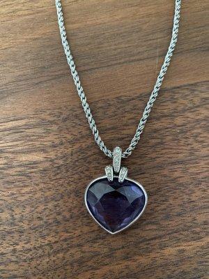 Swarovski Pendentif argenté-violet foncé