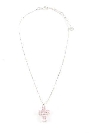Swarovski Silberkette silberfarben-pink Elegant
