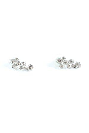 Swarovski Silver Earrings silver-colored casual look