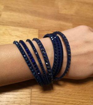 Swarovski Slake Armband/ Wickelarmband, original, blau