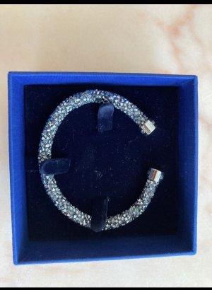 Swarovski Sztywna bransoletka szary-srebrny