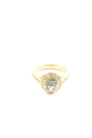 Swarovski Zdobiony pierścionek złoto Z połyskiem