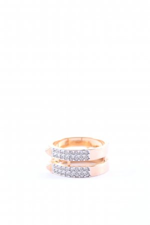 Swarovski Statement ring goud-zilver casual uitstraling