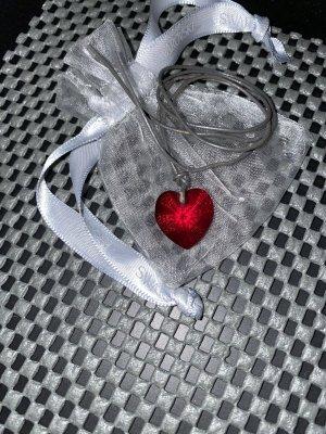 Swarovski süßes rotes Herz&Lederband