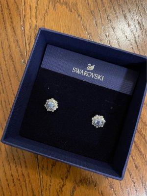 Swarovski Ear stud silver-colored-blue