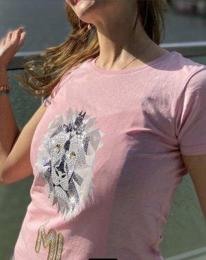 Swarovski T-Shirt Unikat Rosa Lion Gr.S Damen