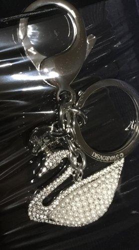 Swarovski Taschenanhänger Schwan silber neu & ovp mit Schlüsselring