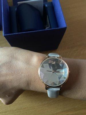 Swarovski Uhr Leder grau Roségold