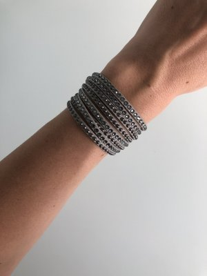 Swarovski Braccialetto sottile grigio-antracite