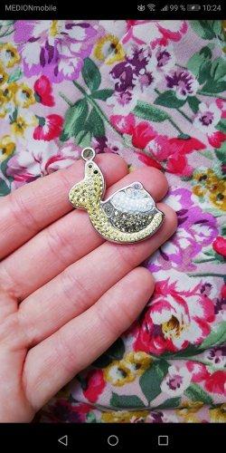 Swarovski Pendant silver-colored-pale yellow