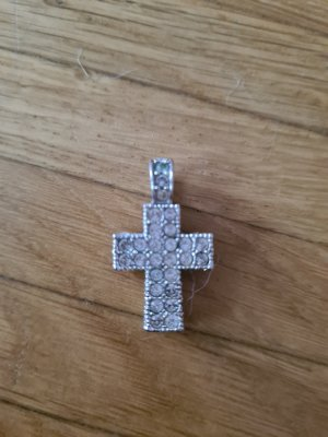 Swarowski Kreuz Echtes silber