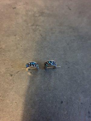 Swarovski Boucles d'oreilles en argent multicolore