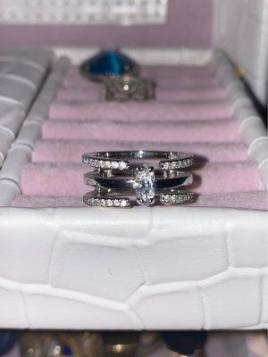 Swarovski Silver Ring white-silver-colored