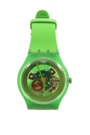 Swatch Analoguhr grün Casual-Look