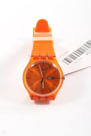 Swatch Reloj analógico naranja claro look casual