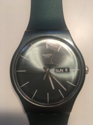 Swatch Self-Winding Watch petrol