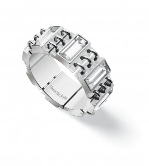 Swatch Statement Ring silver-colored stainless steel