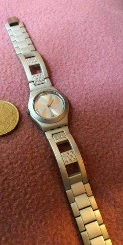 Swatch Watch With Metal Strap silver-colored