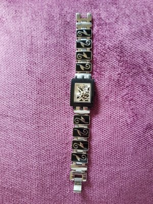 Swatch Watch With Metal Strap black-silver-colored