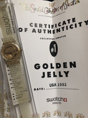 Swatch Golden Jelly 1992
