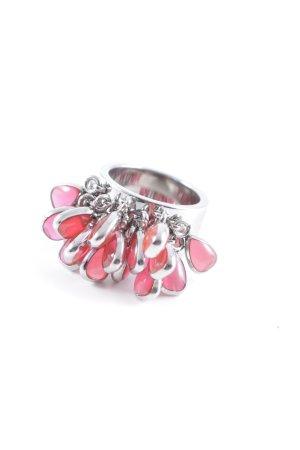 Swatch Silberring silberfarben-rot extravaganter Stil
