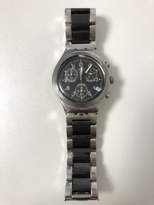 Swatch Analog Watch silver-colored-black