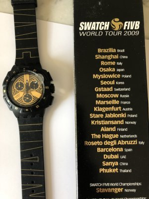 SWATCH Uhr - FIVB Word Tour 2009 - limited Edition