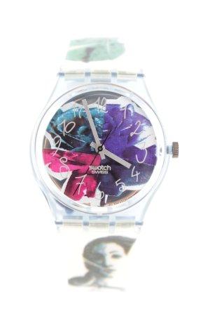 Swatch Montre avec bracelet en cuir motif de fleur style d'affaires