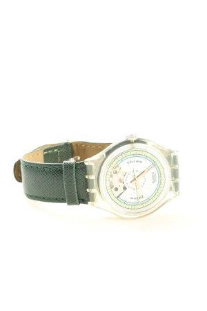 Swatch Uhr mit Lederarmband mehrfarbig Business-Look
