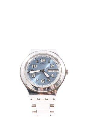 Swatch Uhr mit Metallband silberfarben Casual-Look