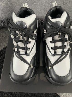 Swear Platform Trainers white-black leather