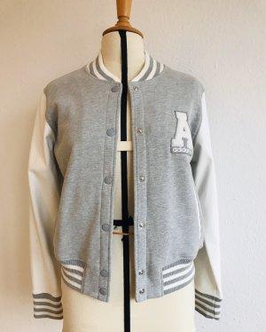 Adidas Giacca college grigio-bianco Cotone