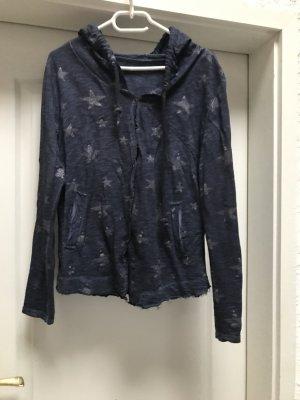 Sweat Jacket silver-colored-dark blue