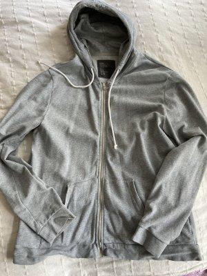 Sweat Jacke grau