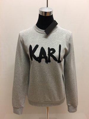 Karl Lagerfeld Felpa grigio chiaro-nero