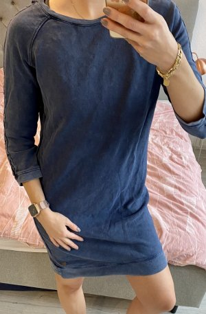 edc by Esprit Sukienka dresowa szary niebieski-ciemnoniebieski