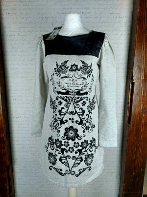 Amarillolimon Robe Sweat noir-gris clair coton