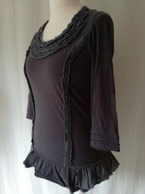Bohemia Camicia a tunica blu scuro-grigio ardesia Cotone