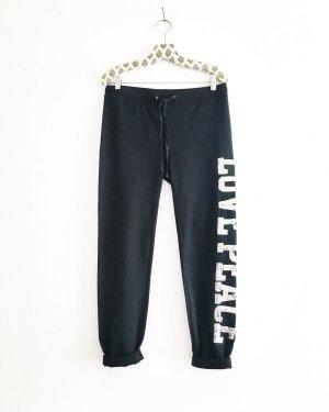 sweat pants / grau / vintage / pailetten / silber / boho / love & peace / casuel / jogginghose
