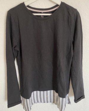 Sweat-Pullover mit liniertem Hemdsaum