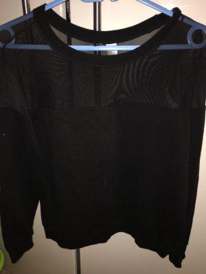H&M Divided Sweatshirt noir coton