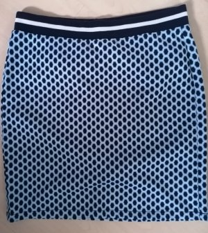 Street One Falda stretch blanco-azul