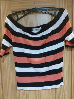 Zara Knit One Shoulder Shirt rose-gold-coloured