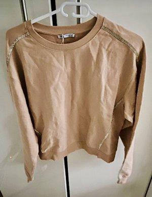 Sweat Shirt mit Strass von Zara