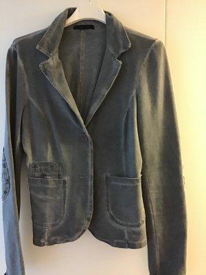 Sweat Blazer slate-gray cotton