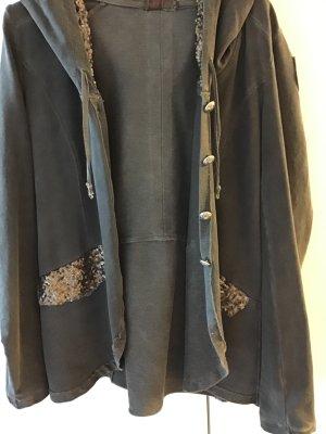 Sweat Blazer dark grey cotton