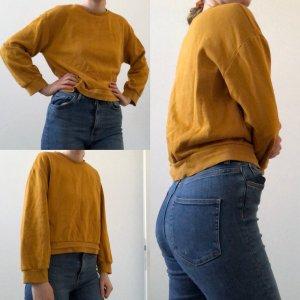 Sweater cropped Senffarben senfgelb Zara S