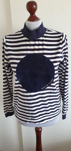 Bench Turtleneck Sweater white-dark blue
