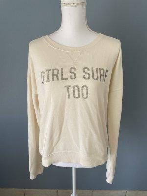 """Sweater """"Girls Surf Too"""" cremefarben"""